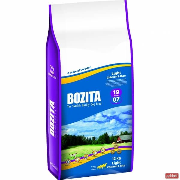 Bozita Light Chicken & Rice Tavuklu Pirinçli Köpek Maması 12kg