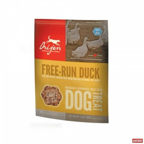 Orijen Freeze Dried Free Run Duck Köpek Ödülü 100gr