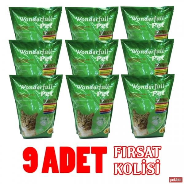 Wonderfull Pet Silika Kedi Kumu 3,8Lt x 9 Adet