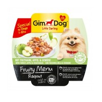 Gimdog Fruity Menu Hindi & Elma Ezme Köpek Konservesi 100gr